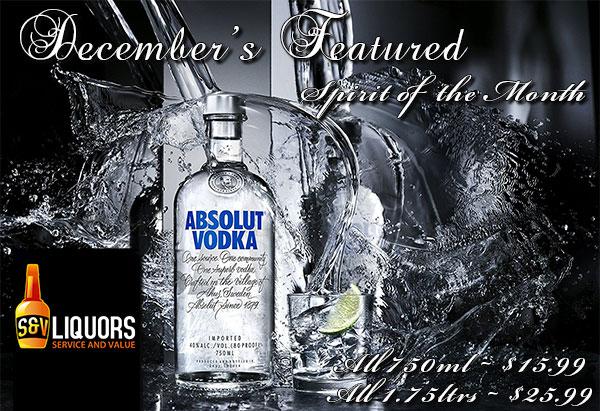 Spirit of the Month at S&V Liquors