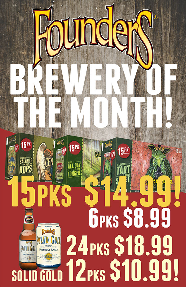 Founders Brewing - June's Featured Brewery at S&V Liquors