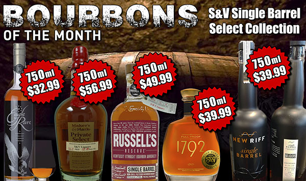 S&V Single Barrel Select Collection - August's Featured Spirits