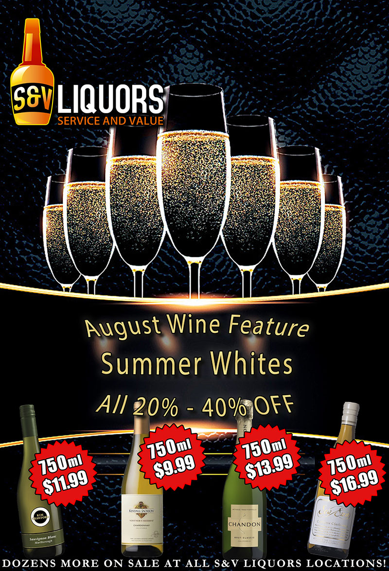 Summer Whites - August's Featured Wines